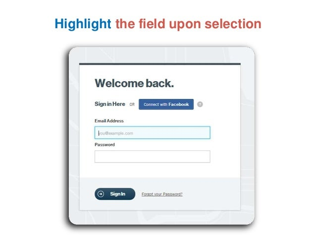 Highlight the field upon selection