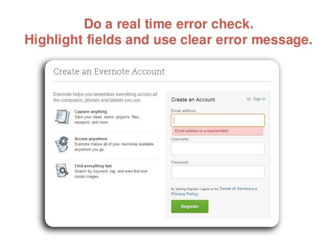 Do a real time error check. Highlight fields and use clear error message.