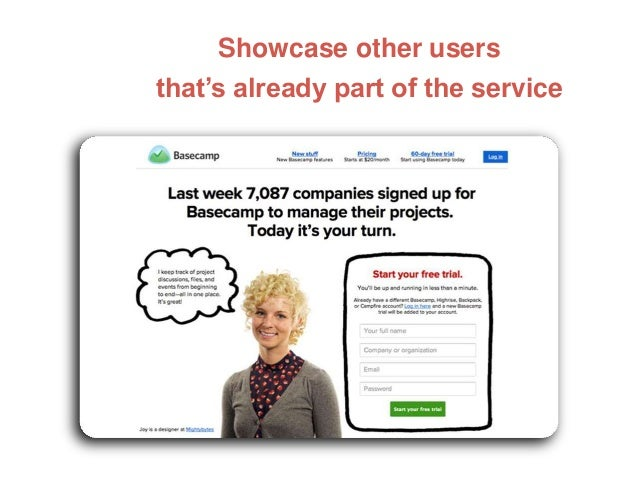 Showcase other users that's already part of the service