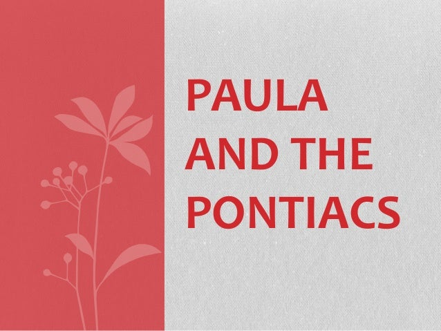 PAULA AND THE PONTIACS