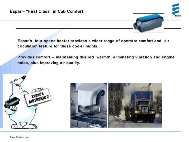 Espar Heating Systems Idle Reduction Technology Presentation