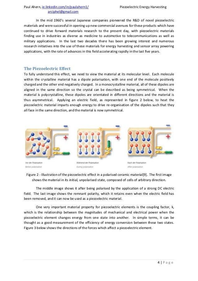 Paul Ahern Piezoelectric Energy Harvesting Review