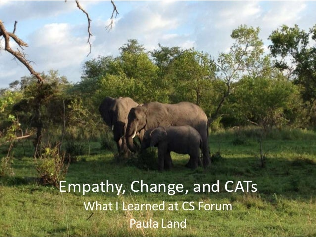 Empathy, Change, and CATs   What I Learned at CS Forum           Paula Land