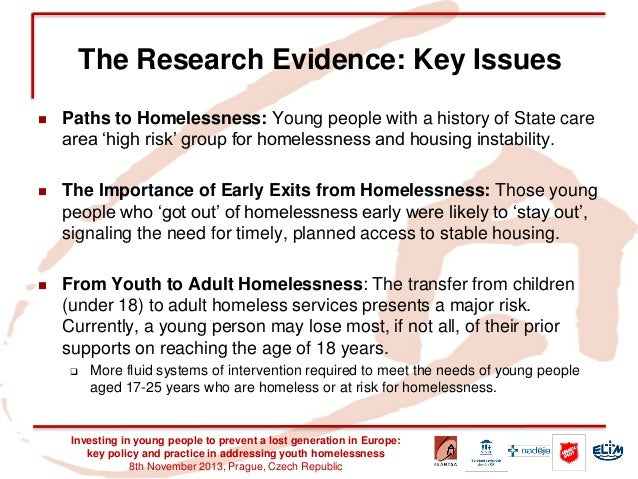 the importance of the issue of homelessness Homelessness is a human rights issue (2008) subsection title improving access to education and training opportunities for homeless people and those at risk of homelessness is an important way to facilitate participation in the community.