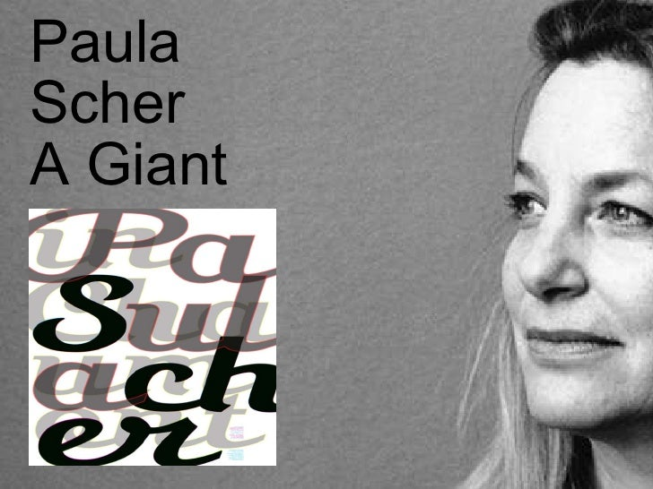 Paula Scher A Giant