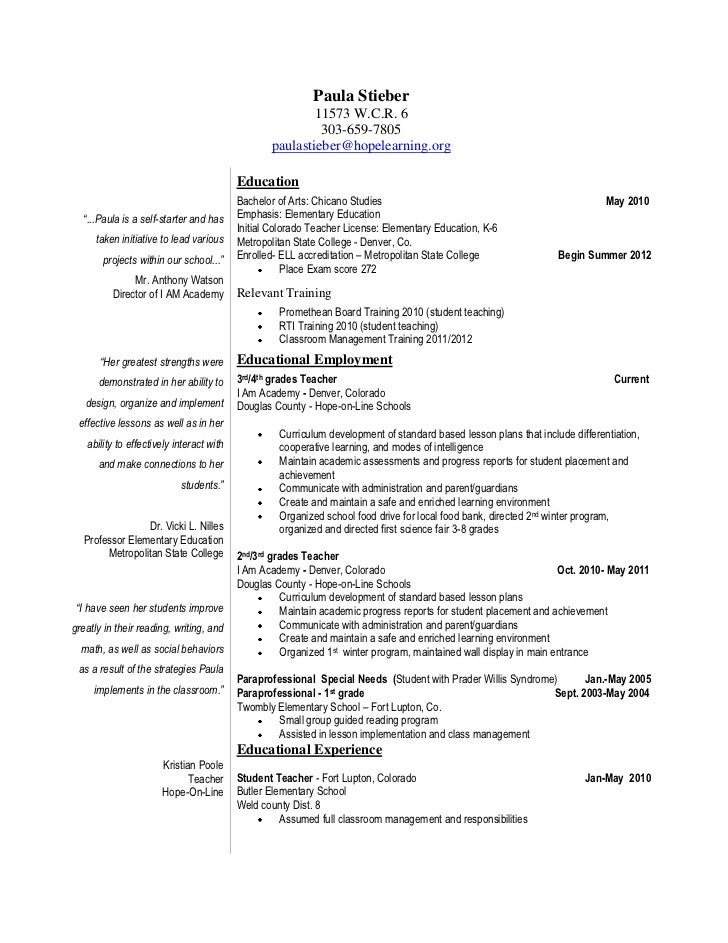 Special Ed Paraprofessional Cover Letter Download Our Sample Of In This Post We