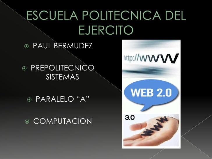 "   PAUL BERMUDEZ     PREPOLITECNICO        SISTEMAS      PARALELO ""A""     COMPUTACION"
