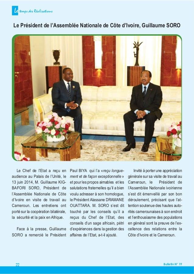 Paul biya cameroun bulletin mensuel n 19 le temps des for Chambre 13 secte
