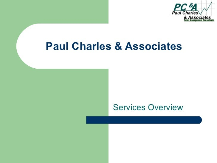 Paul Charles & Associates Services Overview