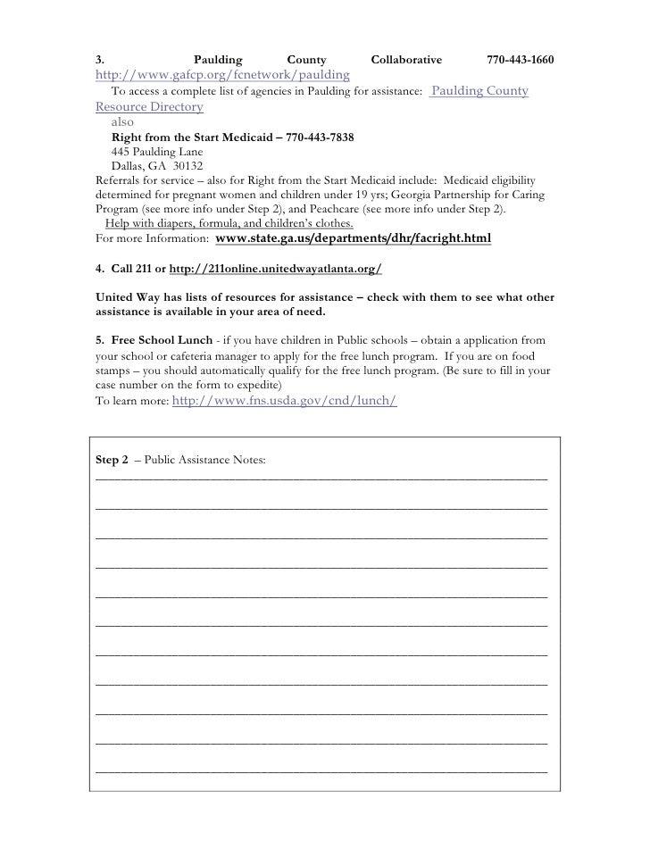Action Plan For Assistance For Paulding Ga