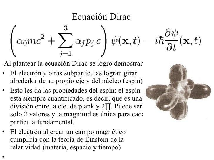 Resultado de imagen de La teoría del electrón de Dirac