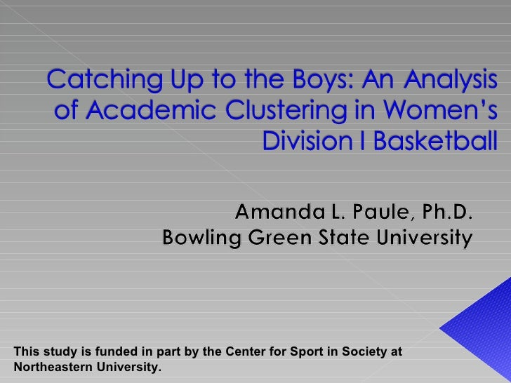 This study is funded in part by the Center for Sport in Society at Northeastern University.