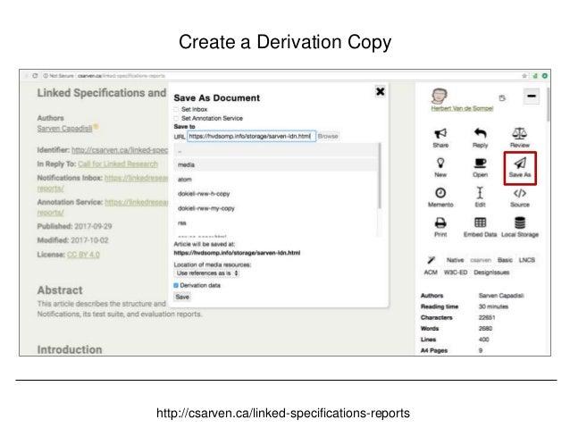 @hvdsomp CNI Fall 2017, December 12th 2017, Washington, DC Review the Derivation Copy https://hvdsomp.info/storage/sarven-...