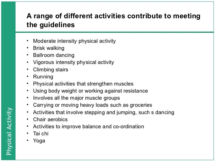 national physical actvity guidelines for all age groups