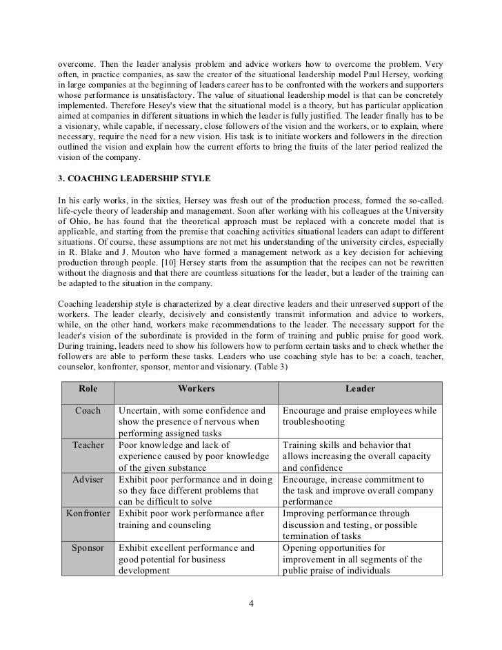 My personal leadership model essay
