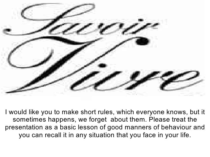 I would like you to make short rules, which everyone knows, but it sometimes happens, we forget  about them. Please treat ...