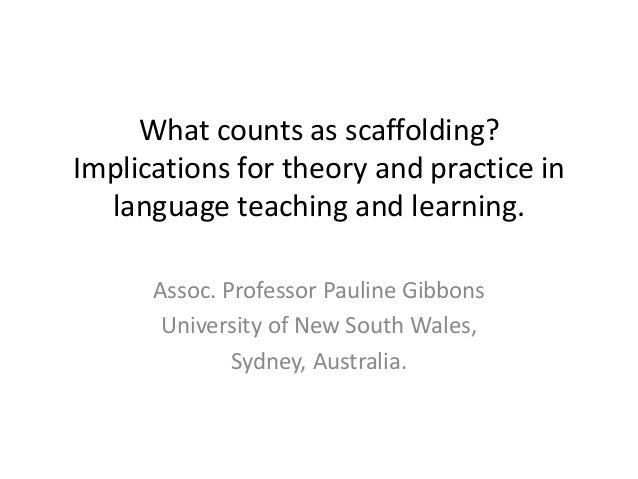 What counts as scaffolding? Implications for theory and practice in language teaching and learning. Assoc. Professor Pauli...