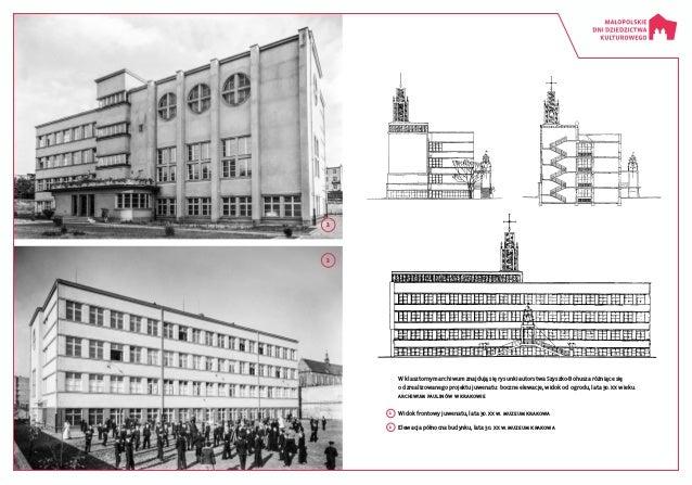 1  Widok frontowy juwenatu, lata 30. XX w. Muzeum Krakowa 2  Elewacja północna budynku, lata 30. XX w. Muzeum Krakowa 1 ...