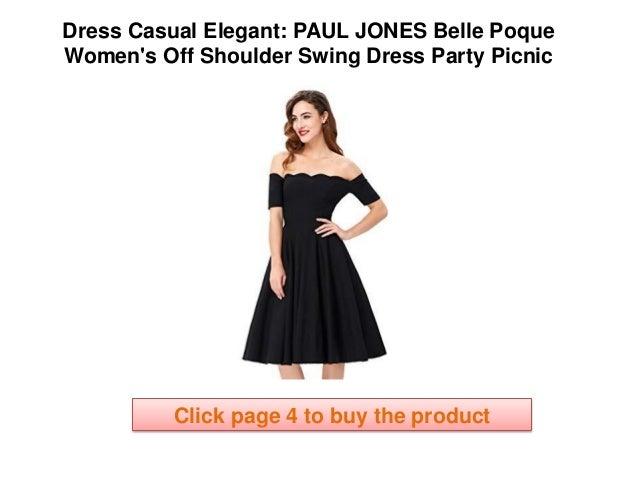 02f2d707243 elegant casual dresses PAUL JONES Belle Poque Women s Off Shoulder Swing  Dress Party Picnic Dress Summer Girls