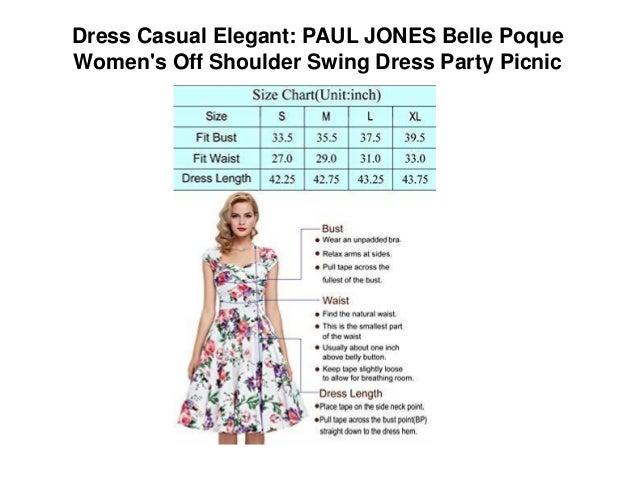 ... Belle Poque Women s Off Shoulder Swing Dress Party Picnic  3. Dress ... b11180d5df34