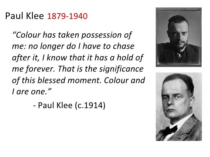 """ Colour has taken possession of me: no longer do I have to chase after it, I know that it has a hold of me forever. That ..."
