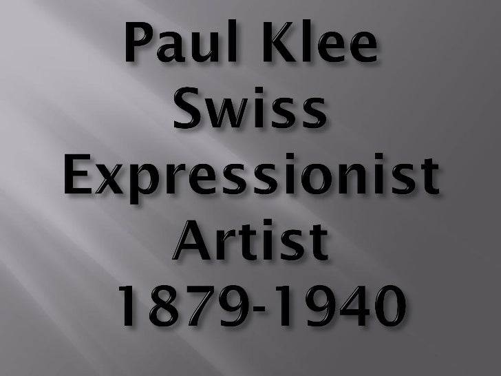 Paul Klee PowerPoint   pdf