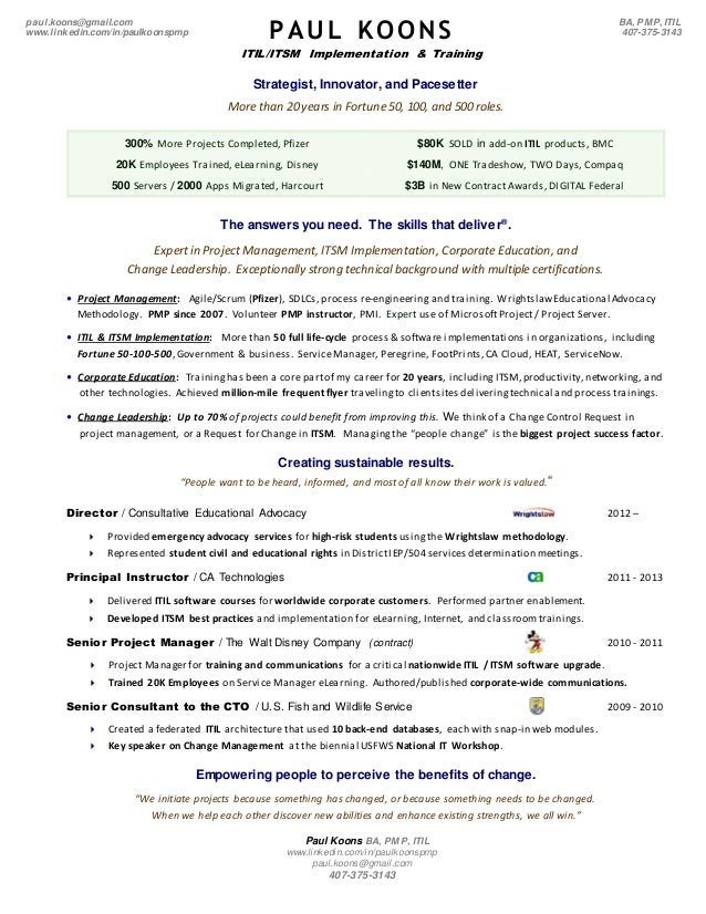 Paul Koons 2 pg ITIL Resume 20141027