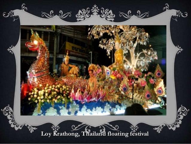 Loy Krathong, Thailand floating festival