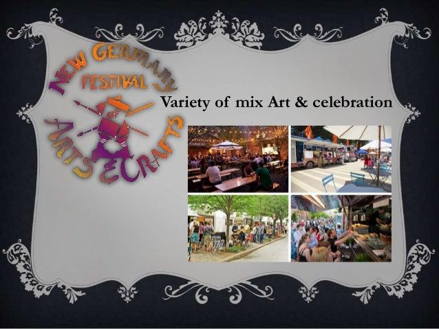 Variety of mix Art & celebration