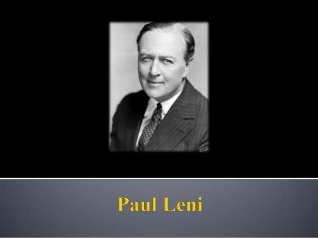   Figura chave do expressionismo Alemão.    Em 1913 começou a trabalhar com a indústria de filmes alemã desenhando cenár...
