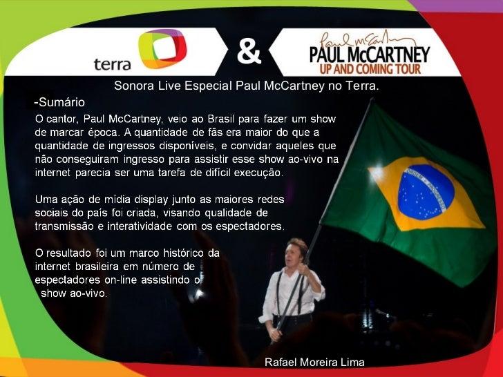 Sonora Live Especial Paul McCartney no Terra.-Sumário                                    Rafael Moreira Lima
