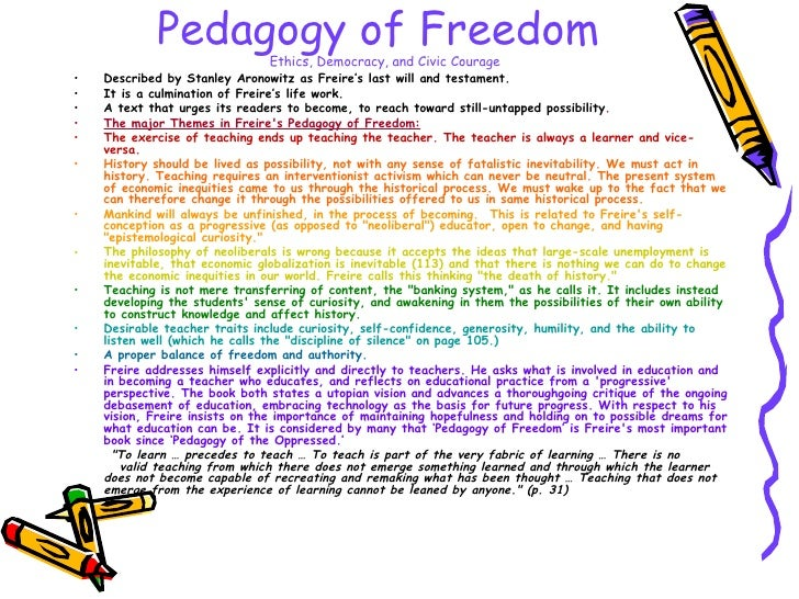 pedagogy of the oppressed summary
