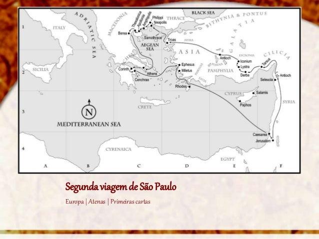 Segunda viagem de São PauloEuropa | Atenas | Primeiras cartas