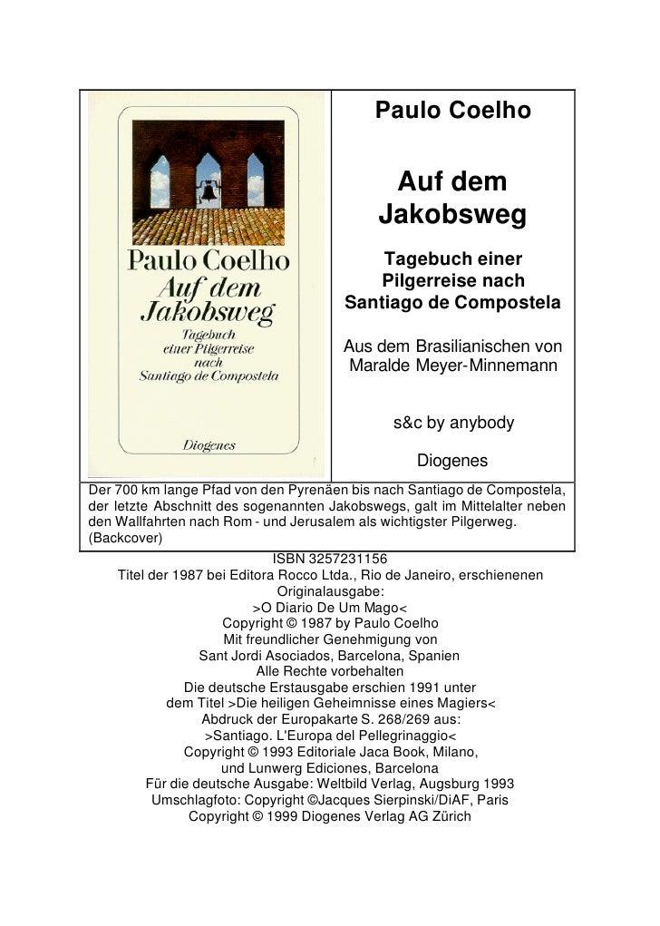 Paulo Coelho                                             Auf dem                                            Jakobsweg     ...