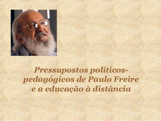 Paulo Freire E A Educação à Distância