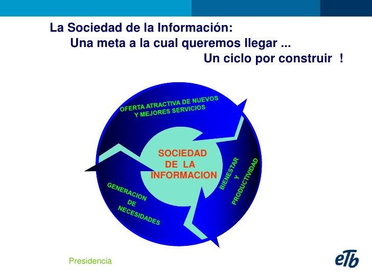 La Sociedad de la Información:    Una meta a la cual queremos llegar ...                          Un ciclo por construir !...