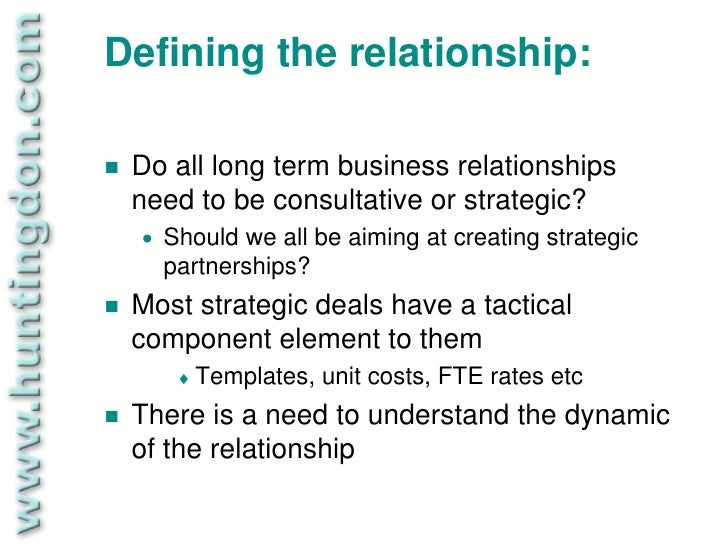 long term customer relationship Relationships can range from personal to automated, from transactional to long- term, and can aim to acquire customers, retain customers, or boost sales.