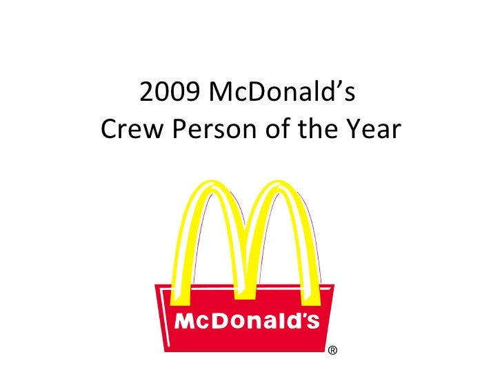 2009 McDonald's  Crew Person of the Year