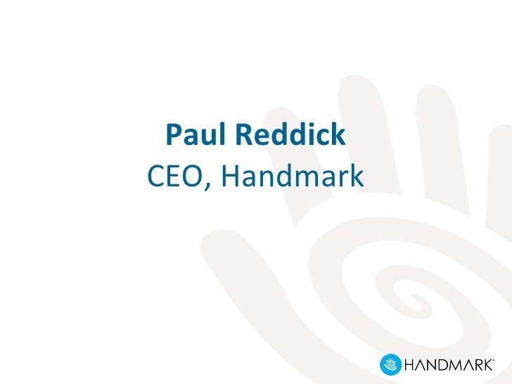 Paul Reddick CEO, Handmark