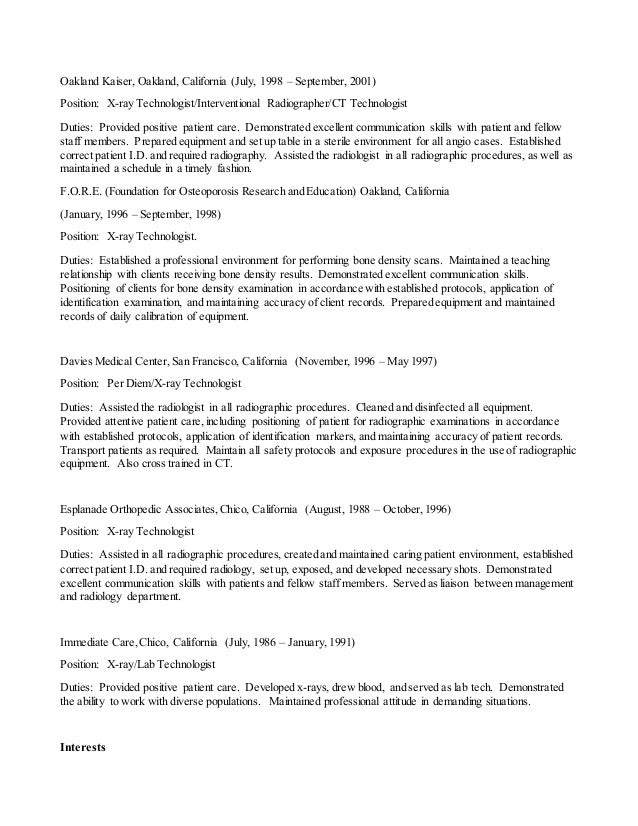 Ct Resume  Resume Cv Cover Letter