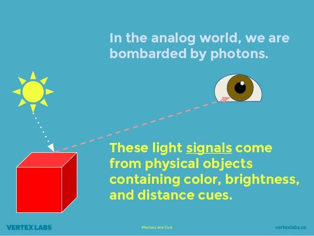 Photons Are Cool In the analog world, we are bombarded by photons. These light signals come from physical objects containi...