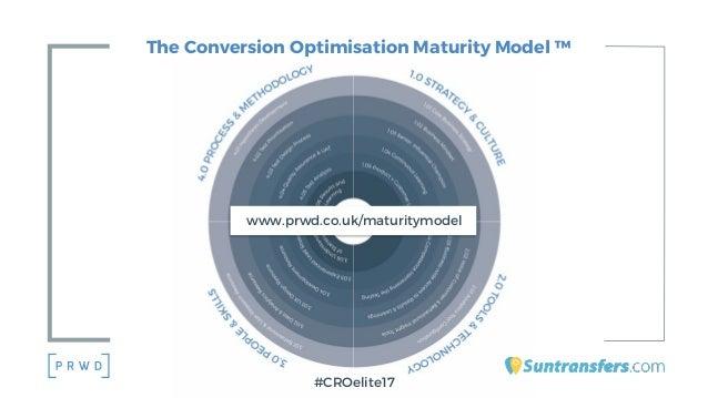 The Conversion Optimisation Maturity Model ™ #CROelite17 www.prwd.co.uk/maturitymodel