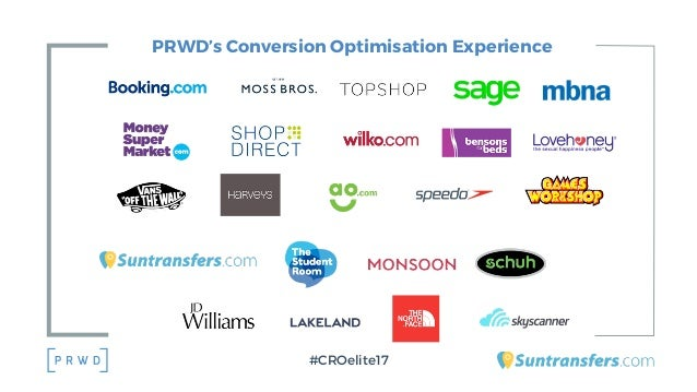 PRWD's Conversion Optimisation Experience #CROelite17
