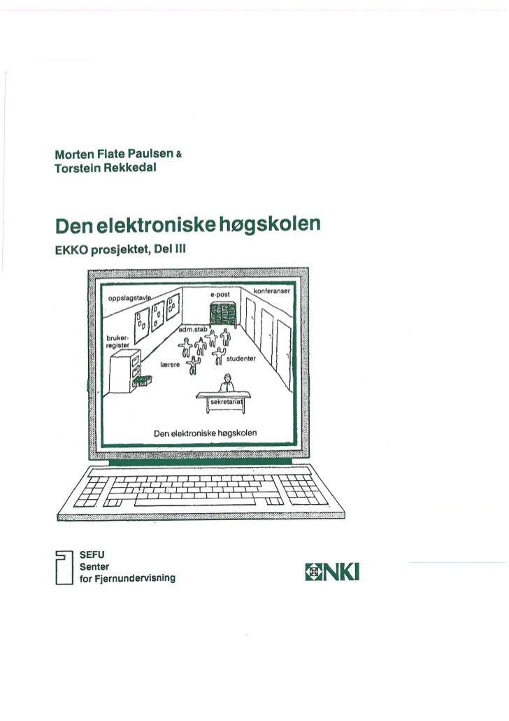 Den Elektroniske Høgskolen - Ekko prosjektet del 3