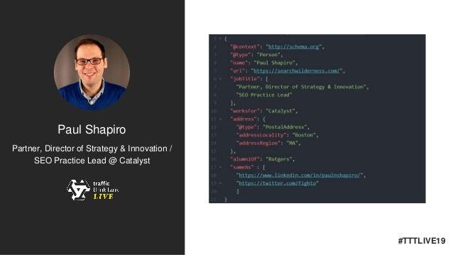 How to Leverage APIs for SEO #TTTLive2019 Slide 2
