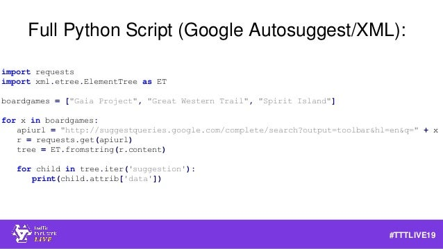 How to Leverage APIs for SEO #TTTLive2019