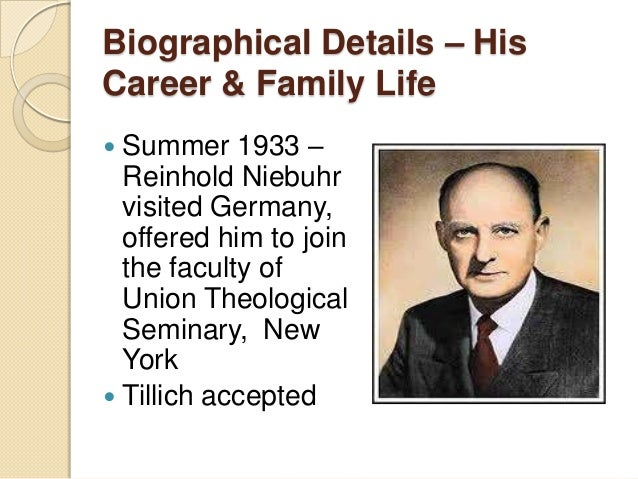 a biography of reinhold niebuhr an american protestant theologian Theologian, ethicist, and political analyst,  american spectator  author of reinhold niebuhr: a biography.