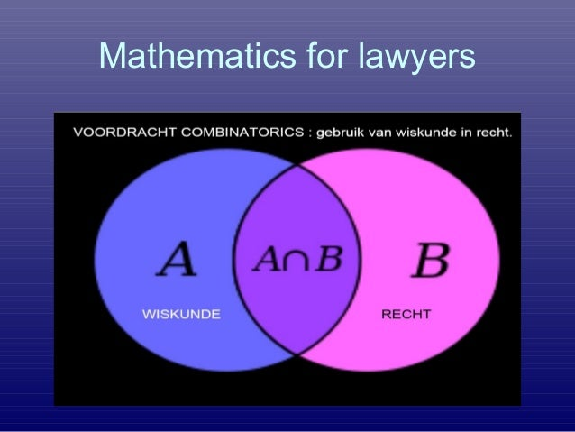 Mathematics for lawyers