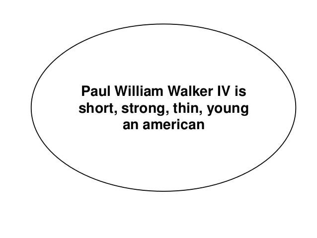 Paul william walker IV ingles III