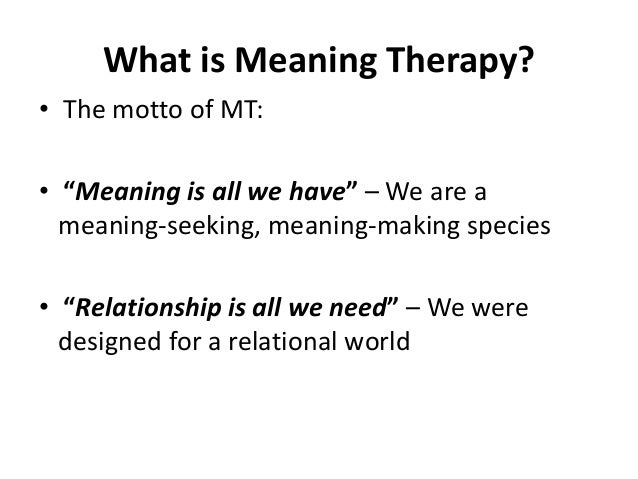 Paul wong, meaning therapy moscow congress